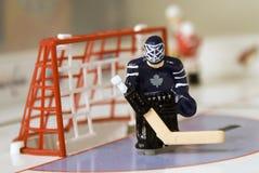 Hockeytorhüter stockbild