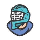 Hockeytorhüter-Vektorzeichen lizenzfreie abbildung