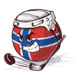 Hockeywereldbeker Noorwegen royalty-vrije illustratie