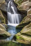Hocking Hills Splash - Ohio Waterfall Royalty Free Stock Photography