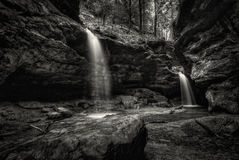 Hocking HIlls Waterfall Royalty Free Stock Images