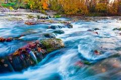 Hocking River in Ohio. Hocking River in Autumn at sunrise in Ohio stock photo