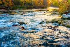Hocking River in Ohio. Hocking River in Autumn at sunrise in Ohio Royalty Free Stock Images