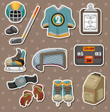Hocky stickers Royalty Free Stock Photos