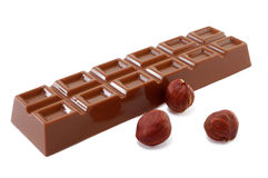 сhocolate bar with nuts Royalty Free Stock Images