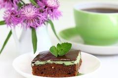 Сhocolate brownies. Sweet brownies or chocolate cakes Stock Photo