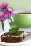 Ð¡hocolate brownies. Sweet brownies or chocolate cakes. Shallow DOF stock photo