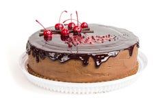 Сhocolate cake with chocolate chocolate glaze Stock Photo