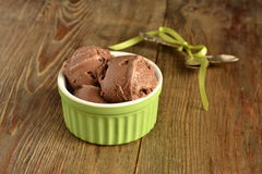 Сhocolate ice cream Stock Photos