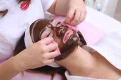 Hocolate Mask Facial Spa στοκ εικόνα με δικαίωμα ελεύθερης χρήσης