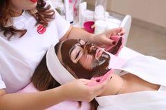 Hocolate Mask Facial Spa στοκ εικόνες με δικαίωμα ελεύθερης χρήσης