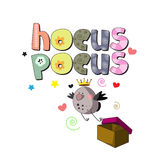 Hocus pocus. Design for printed products for children Stock Photos