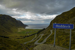 Hoddevik Norge Fotografering för Bildbyråer