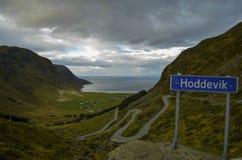 Hoddevik, Norvège Image stock