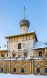 Hodegetria Church In The Rostov Kremlin. In Rostov Veliky in the winter Stock Images