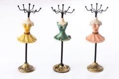 Hoders del maniquí para la joyería Imágenes de archivo libres de regalías
