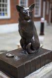 猫hodge约翰逊s塞缪尔雕象 免版税库存图片