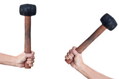 hoding查出的二的锤子现有量 免版税图库摄影