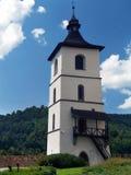 Hodinova Veza (Tower) of the Castle of Kremnica Stock Photos