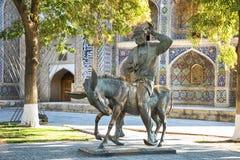 Hodja Nasreddin在布哈拉,乌兹别克斯坦 库存图片