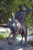 Hodja Nasreddin Monument at Divan-Begi madrasa stock images
