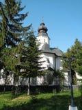 Hodos-Bodrog Monastery - Zădăreni, Arad county – Romania. Hodos-Bodrog Monastery - The Assumption of the Virgin Mary, historical monument - attested royalty free stock image