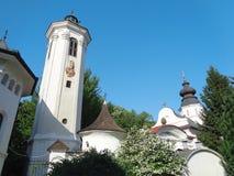 Hodos-Bodrog Monastery - Zădăreni, Arad county – Romania. Hodos-Bodrog Monastery - The Assumption of the Virgin Mary, historical monument - attested stock photo