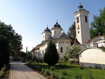 Hodos-Bodrog Monastery. The Assumption of the Virgin Mary, historical monument - attested in 1177, is the oldest Orthodox monastery in Romania, with a continuous stock photo
