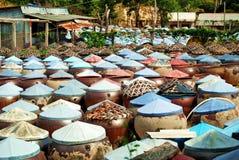 Hoe de vissensaus in Vietnam wordt gemaakt Stock Afbeelding