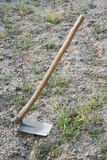 Hoe, a garden tool Royalty Free Stock Image
