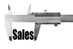Hoe groot onze verkoop is Stock Foto's