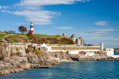 The Hoe Plymouth Devon. Beautiful summers day at The Hoe Plymouth Devon England UK Europe Stock Image