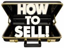 Hoe te om Aktentas te verkopen leer de Uiteinden van de Verkoopraad stock illustratie