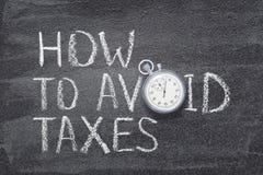 Hoe te om belastingen te vermijden royalty-vrije stock fotografie