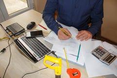 Hoe te om businessplan te schrijven Bedrijfsdoelstellingen beelden Royalty-vrije Stock Fotografie