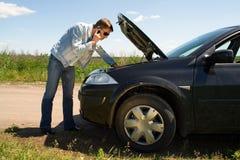 Hoe te om de auto te herstellen Stock Foto's