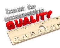 Hoe te om de Kwaliteitsverbetering te meten Stock Afbeeldingen