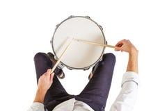 Hoe te om de trommels te spelen royalty-vrije stock fotografie