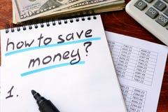 Hoe te om geld te besparen Royalty-vrije Stock Fotografie