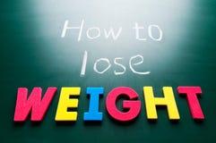 Hoe te om gewicht te verliezen Royalty-vrije Stock Fotografie