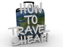 Hoe te om goedkoop concept te reizen vector illustratie