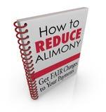 Hoe te om het Boek Juridisch Advies Lager Spousal S te verminderen van Alimentatiebetalingen Stock Fotografie