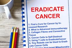 Hoe te om kankerconcept uit te roeien royalty-vrije stock fotografie