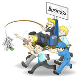 Hoe te om zaken 2 IN WERKING TE STELLEN Stock Foto