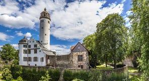 Hoechster Schlossturm i Frankfurt Hoechst Arkivbild
