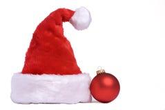 Hoed 1 van de kerstman Royalty-vrije Stock Afbeeldingen