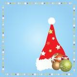 Hoed 1 van Kerstmis van de kerstman Stock Foto