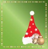 Hoed 2 van Kerstmis van de kerstman Stock Afbeeldingen