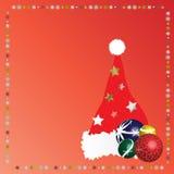 Hoed 4 van Kerstmis van de kerstman Stock Afbeelding