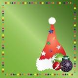 Hoed 5 van Kerstmis van de kerstman Royalty-vrije Stock Afbeeldingen